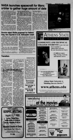 Athens News Courier, August 13, 2005, Page 6