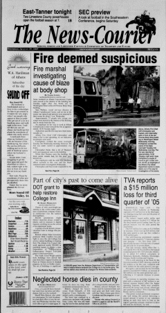Athens News Courier, August 25, 2005, Page 1