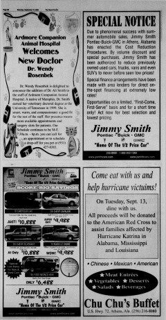 Athens News Courier, September 10, 2005, Page 28