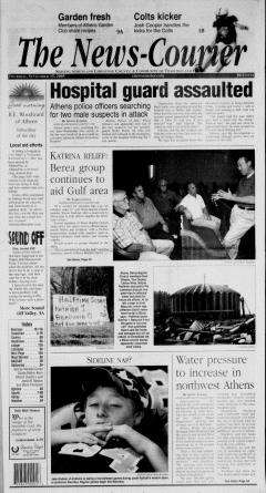 Athens News Courier, September 15, 2005, Page 1