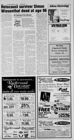 Athens News Courier, September 21, 2005, Page 11