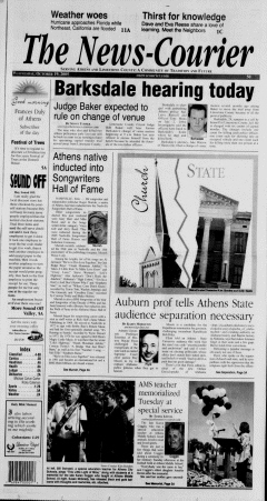 Athens News Courier, October 19, 2005, Page 1