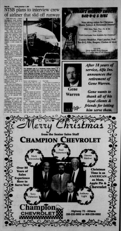 Athens News Courier, December 11, 2005, Page 20