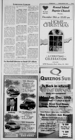 Athens News Courier, December 17, 2005, Page 25