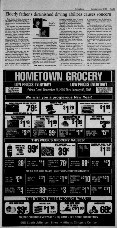 Athens News Courier, December 28, 2005, Page 46