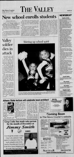 Athens News Courier, January 11, 2009, p. 11