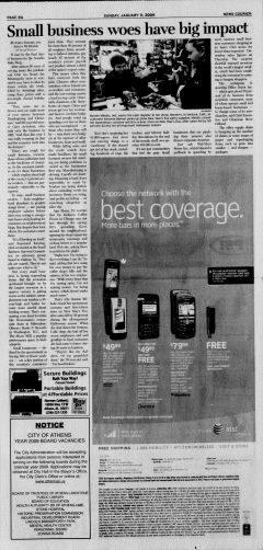 Athens News Courier, January 11, 2009, p. 15