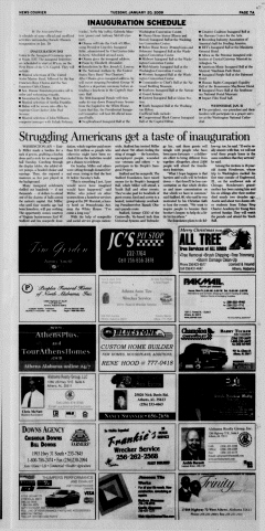 Athens News Courier, January 20, 2009, Page 14
