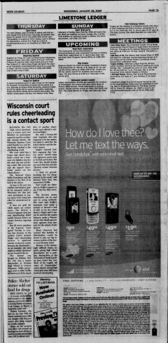 Athens News Courier, January 28, 2009, Page 15