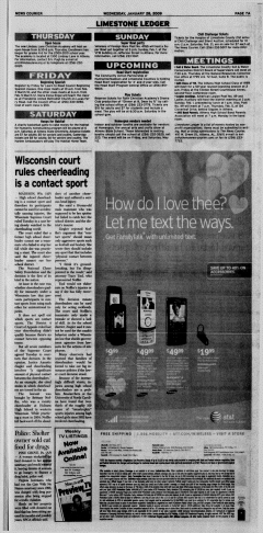 Athens News Courier, January 28, 2009, Page 14