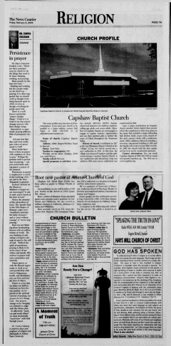 Athens News Courier, February 06, 2009, Page 14