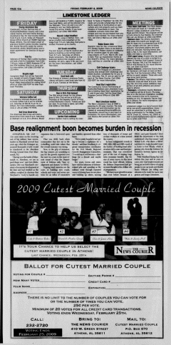 Athens News Courier, February 06, 2009, Page 20