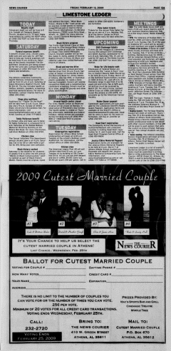 Athens News Courier, February 13, 2009, Page 26