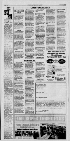 Athens News Courier, February 14, 2009, Page 8