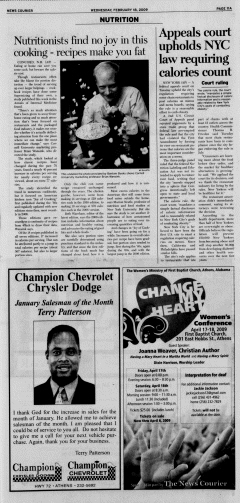 Athens News Courier, February 18, 2009, Page 21