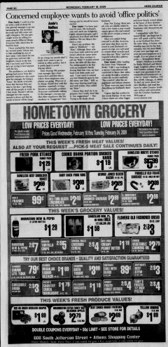 Athens News Courier, February 18, 2009, Page 39