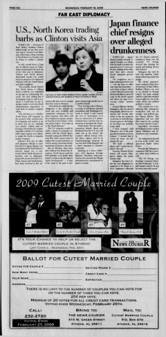 Athens News Courier, February 18, 2009, Page 24