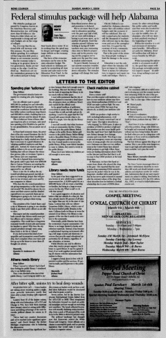 Athens News Courier, March 01, 2009, Page 10