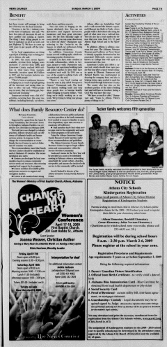 Athens News Courier, March 01, 2009, Page 14