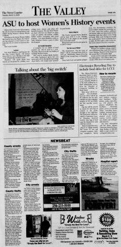 Athens News Courier, March 03, 2009, p. 7