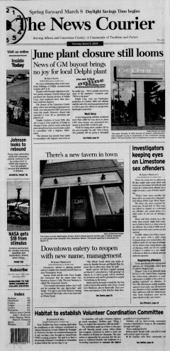 Athens News Courier, March 05, 2009, Page 1