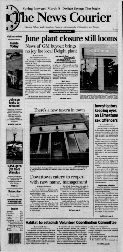 Athens News Courier, March 05, 2009, Page 2
