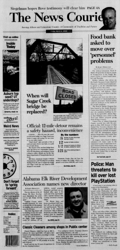 Athens News Courier, March 06, 2009, Page 1