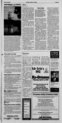 Athens News Courier, March 15, 2009, p. 6