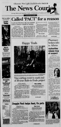 Athens News Courier, March 19, 2009, Page 1