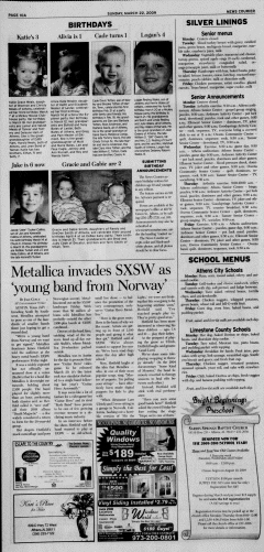 Athens News Courier, March 22, 2009, p. 19
