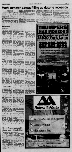 Athens News Courier, March 29, 2009, p. 13