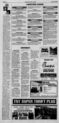 Athens News Courier, April 04, 2009, Page 7