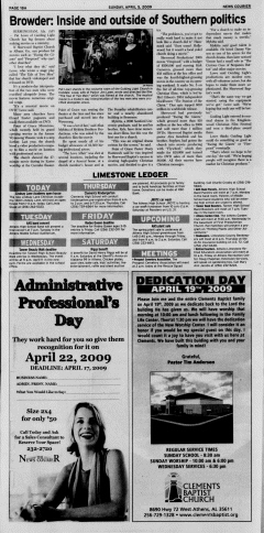 Athens News Courier, April 05, 2009, Page 35