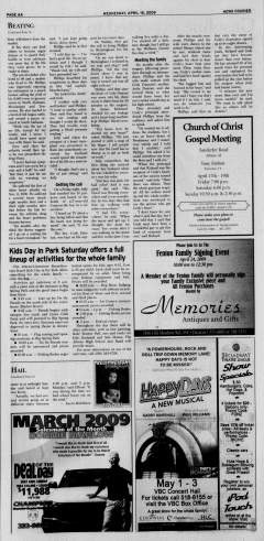 Athens News Courier, April 15, 2009, Page 11