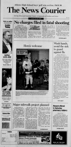 Athens News Courier, April 28, 2009, Page 1
