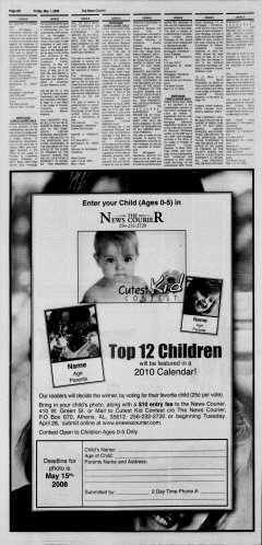 Athens News Courier, May 01, 2009, Page 39