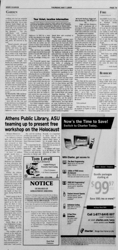 Athens News Courier, May 07, 2009, Page 13