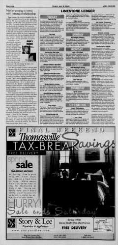 Athens News Courier, May 08, 2009, Page 20