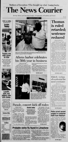 Athens News Courier, May 09, 2009, Page 1