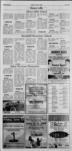 Athens News Courier, June 07, 2009, Page 37