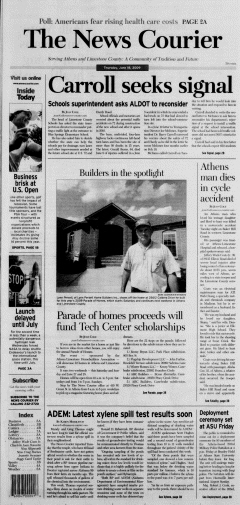 Athens News Courier, June 18, 2009, Page 1