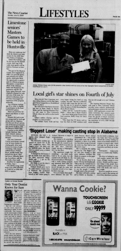 Athens News Courier, July 12, 2009, p. 17