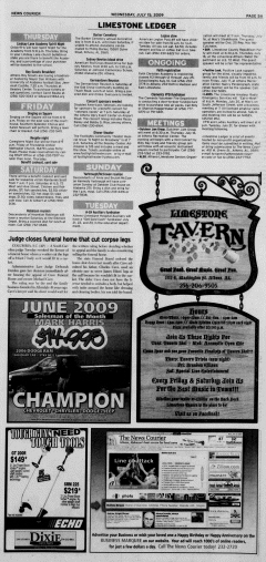 Athens News Courier, July 15, 2009, p. 9