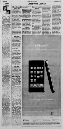 Athens News Courier, July 17, 2009, p. 19