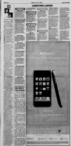 Athens News Courier, July 17, 2009, p. 20
