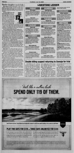 Athens News Courier, July 23, 2009, Page 16