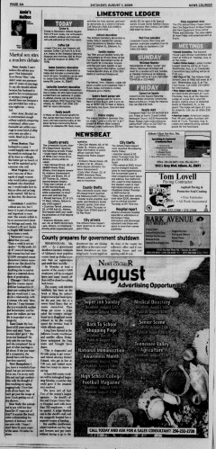 Athens News Courier, August 01, 2009, Page 7