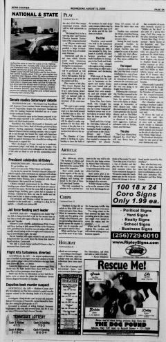 Athens News Courier, August 05, 2009, Page 3
