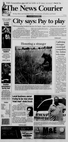 Athens News Courier, August 13, 2009, Page 1