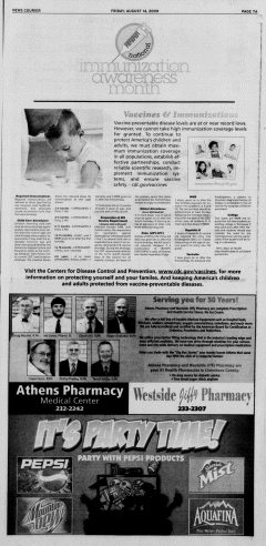 Athens News Courier, August 14, 2009, p. 13